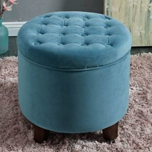 Enjoyable Los Feliz Riverside Large Round Button Tufted Storage Ottoman Velvet Tufted Teal Check Back Soon Ocoug Best Dining Table And Chair Ideas Images Ocougorg