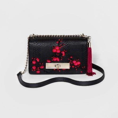 8f6e8e240a8 Women s Embroidered Crossbody Bags - Mossimo Black - Check Back Soon ...