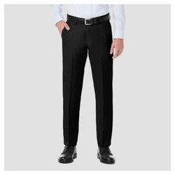 Haggar H26¤ Men's Performance 4 Way Stretch Slim Fit Trouser Pants - Black 36x30