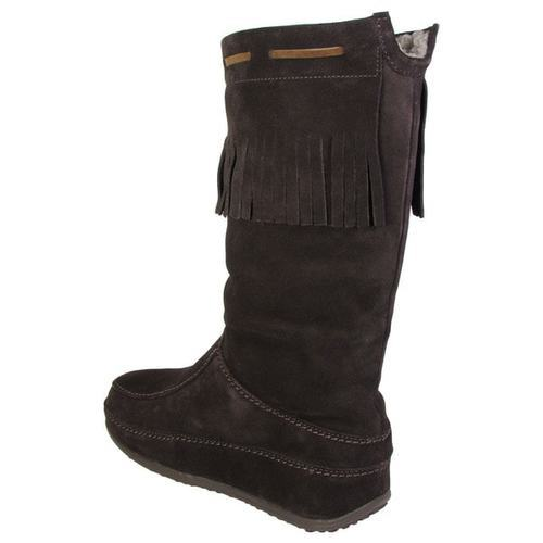 4974fcce5 Fitflop Women s Superfringe Mukluk Suede Boots - Dark Brown - Size 7 ...