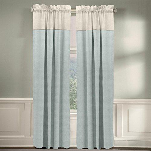 Grand Luxe Linen Monterey Grommet Curtain Panel 96 Inch Grey Check