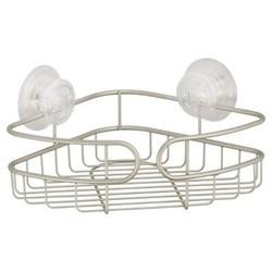 Corner PowerLock Ultra Suction Shower Caddy Satin Silver -  InterDesign 1596234