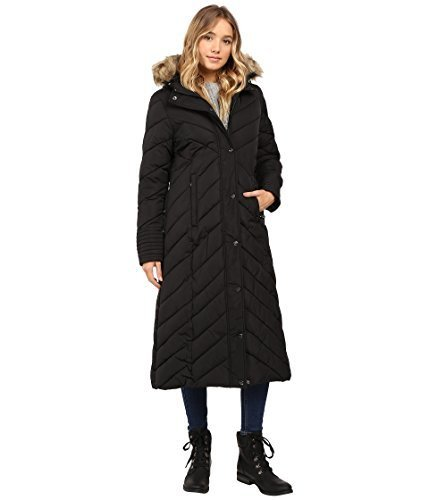 2f93d01f0 Steve Madden Women's Long Chevron Maxi Puffer Coat - Black - Size: S -  Check Back Soon