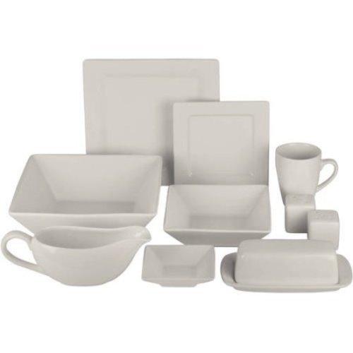 10 Strawberry Street Square Ceramic 34 Piece Dinnerware Set