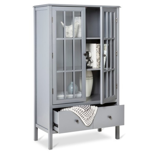 ... Threshold Windham Tall Cabinet With Drawer   Gray ...