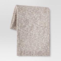 "Heathered Knit Throw Blanket (50""""x60"""") - Tan - Threshold"" 1620867"
