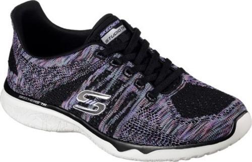 9b55f8ac9956 Skechers Women s Studio TR Edgy Sneakers - Black Purple - Size  8.5 ...