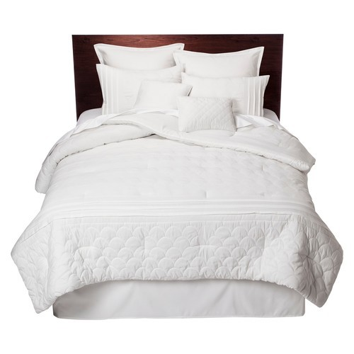 Colette 8 Piece Comforter Set White Queen