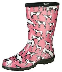 Sloggers Shoes: Tall Boots-Pink Cowabella Print/Size 6 1624804