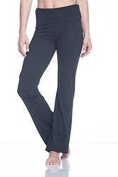 Women's Workout Pants: GAW173LE08-Om Nova Bootcut (Tap Shoe)-Black/Medium 1624893