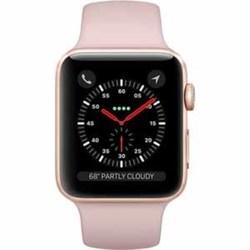 Apple Series 3 Smartwatch - Gold Aluminum/Pink Sand - 42mm (MQL22LL/A)