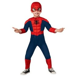 Marvel Toddler Kids' Spider-Man Deluxe Costume - Red/Blue - Size:3T-4T 1634265