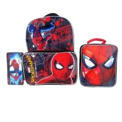 "Marvel Spider-Man 16"""" Kids' Backpack with Lunch Bag and Pencil Case - Red"" 1635727"