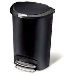 Simplehuman Studio 50 Liter Semi Round Step Trash Can ...