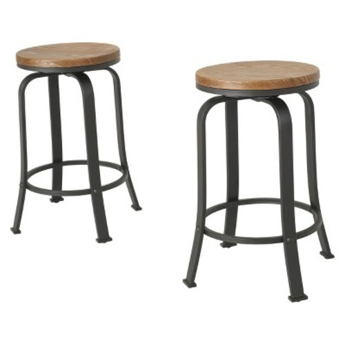 Christopher Knight Home 24 Natural Wood Skyla Counter Stool Set