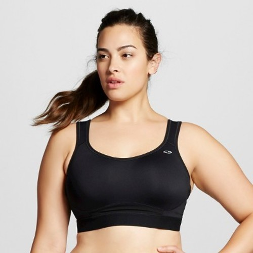 5faa5b0d5a331 Women s Plus-Size Support Compression Sports Bra - C9 Champion - 1X Black