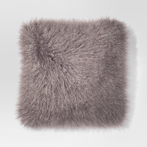 gray mongolian faux fur throw pillow   project 62   check