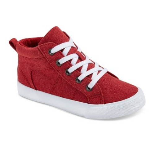 Cat Amp Jack Boys Gladden Canvas High Top Sneakers Red