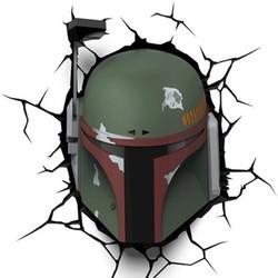 3D Light FX Star Wars Boba Fett 3D Wall Nightlight - Green 1642663