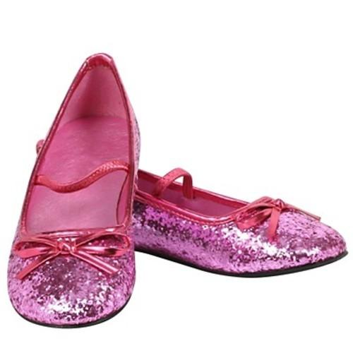 fb670a3b16c BuySeasons Girls  Halloween Sparkle Ballerina Shoes - Pink - Size XS ...