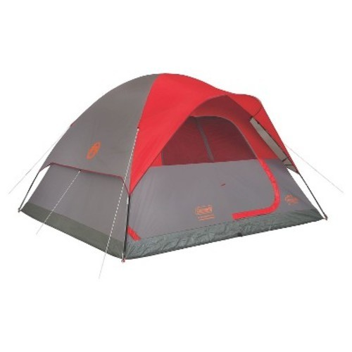 ccdd8e6ae4d ... Coleman Flatwoods II 6-Person Dome Tent - Gray Red (49143327) ...