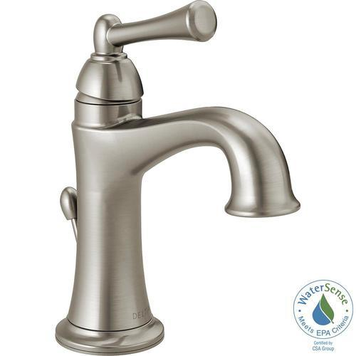 Delta 4 Rila Centerset Single Handle Bathroom Faucet Brushed