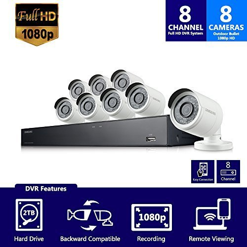 Samsung 8 Channel 1080p All In One Security System Sdh B74081