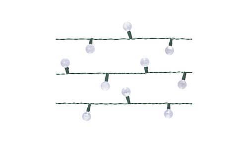 Room Essentials 30 Led Solar Globe String Lights White