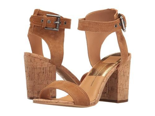 0e159ae1074 Dolce Vita Cally Block Heel Suede Sandal - Saddle - Size  10 - Check ...