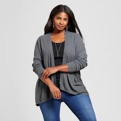 Women's Plus Size Textured Open Cardigan - Ava & Viv  Charcoal Gray X 1655194