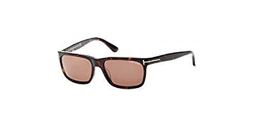 92d9be19f99b6 Tom Ford Rectangular Sunglasses TF337 Hugh 56J Havana FT0337 - Check ...