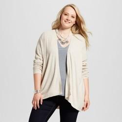 Women's Plus Size Textured Open Cardigan - Ava & Viv Oatmeal 4X 1669867