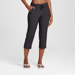 Women's Woven Capri Leggings - C9 Champion  - Black XL 1672798