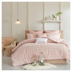 Kay 5-Pieces 140TC Comforter Set - Pink - Size:Twin/Twin XL