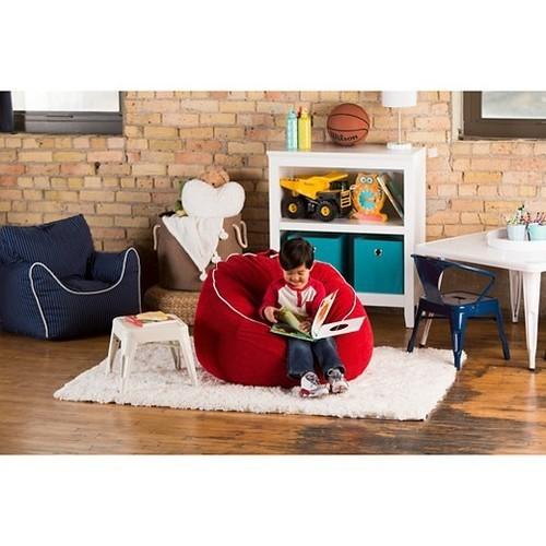 Pleasant Pillowfort Corduroy Bean Bag Chair Red Size Xl Check Beatyapartments Chair Design Images Beatyapartmentscom
