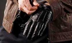 Men's Faux Leather Touchscreen Gloves Black