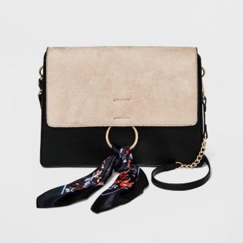 Women S Ring Crossbody Handbag Who What Wear Black Cream