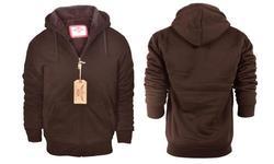 Lee Hanton Men's Sherpa-Lined Hoodie - Brown - Size: 3XL 1683860