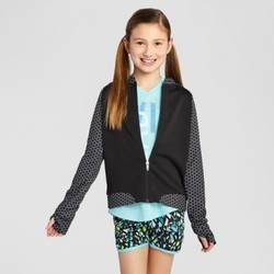 Girls' Printed Bomber Jacket - C9 Champion  Black M 1693655