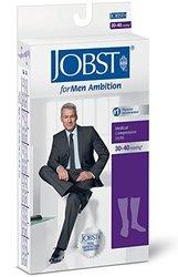 Jobst Men's Ambition Knee High Socks - 30-40 mmHg - Navy - Size: 6 1533739