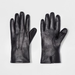 Goodfellow Men's Leather Dress Glove - Black - Size:L 1677014