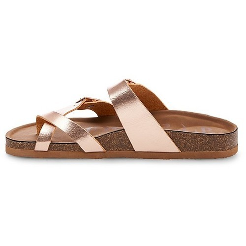 9484d012059a ... Mad Love Women s Prudence Footbed Sandals - Rose Gold - Size  ...