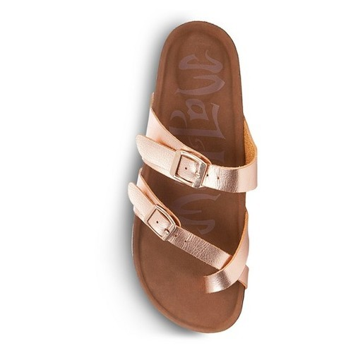 cb9fdca8c7fa Mad Love Women s Prudence Footbed Sandals - Rose Gold - Size  11 ...
