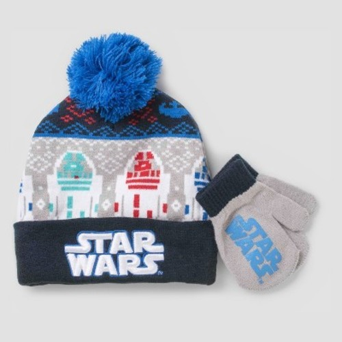ecbc9e44421 ... uk toddler boys star wars hat and mitten set red gray one size 1ca35  8a511