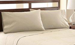 Amrapur Overseas 4-Piece 1200 Thread Count Sheet Set - Beige - Queen