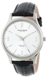 Akribos XXIV Men's Stainless Steel Swiss Quartz Strap Watch
