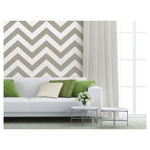 Devine Color Zig Zag Peel & Stick Wallpaper Mirage
