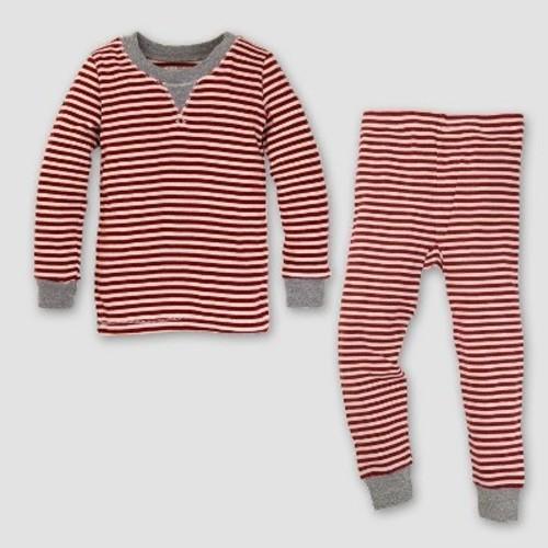 c59e9c9cd5fe Burt s Bees Baby Organic Cotton 2pc Candy Cane Stripe Pajama Set ...