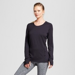 Women's Long Sleeve Ventilated Tech T-Shirt - C9 Champion  - Black M 1719749