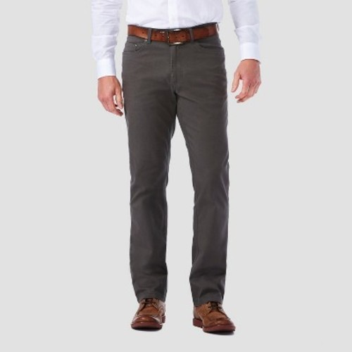 Haggar h26 men 39 s 5 pocket stretch twill pants medium for Haggar forever new shirts
